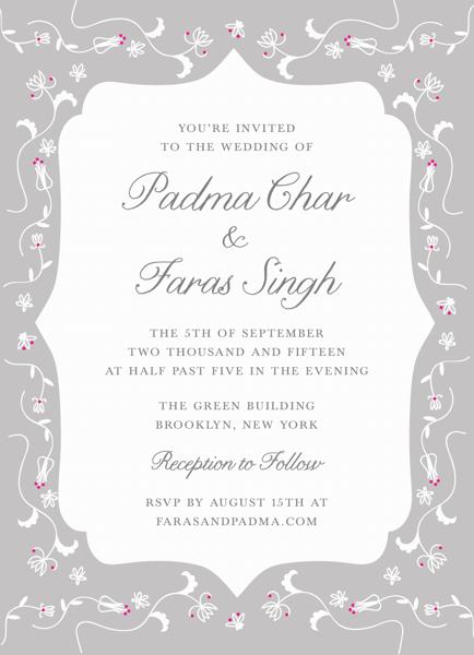 Grey Pattern Invitation