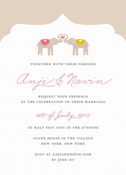 Elephant Love Invitation