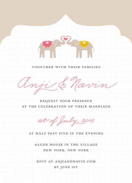 Elephant Love Invitation
