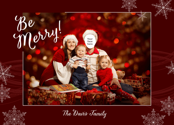 Singles Red and Snowy Holiday Card