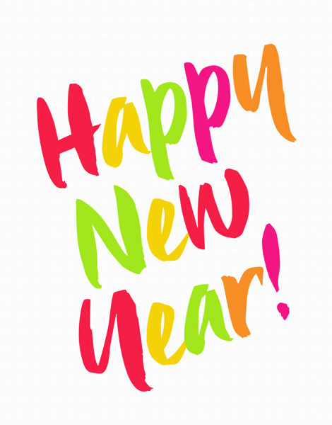 Multicolored New Year Card