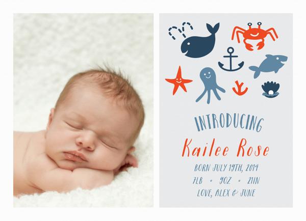Nautical Birth Announcement