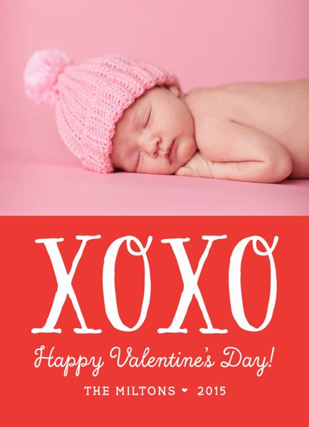XOXO Custom Photo Valentine Card