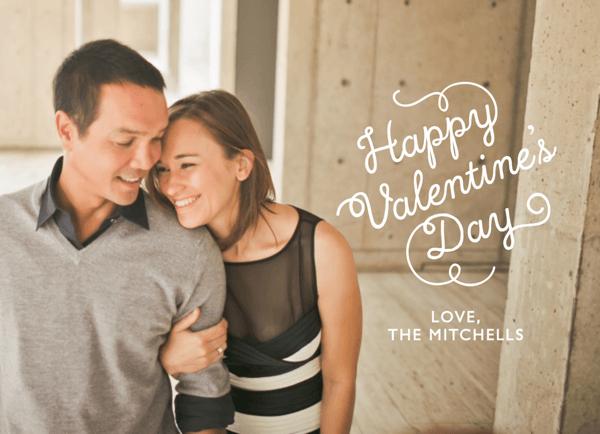 Happy Flourish Valentine's Card