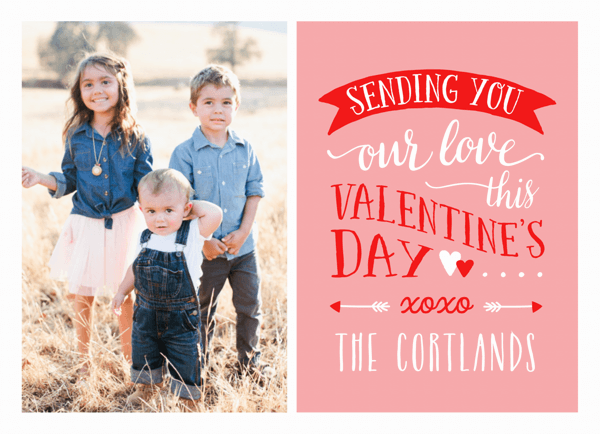 Lettering Custom Photo Valentine Card