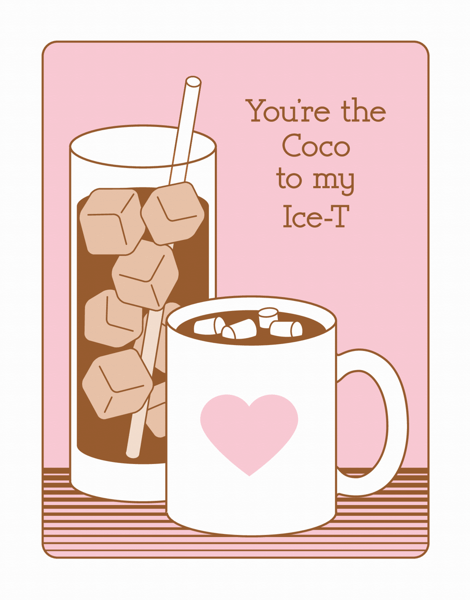 Coco and Ice T Valentine's Card