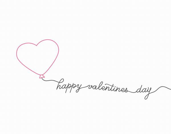 Outline Balloon Valentine Card