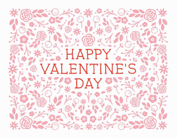 Daisy Garden Valentine Card