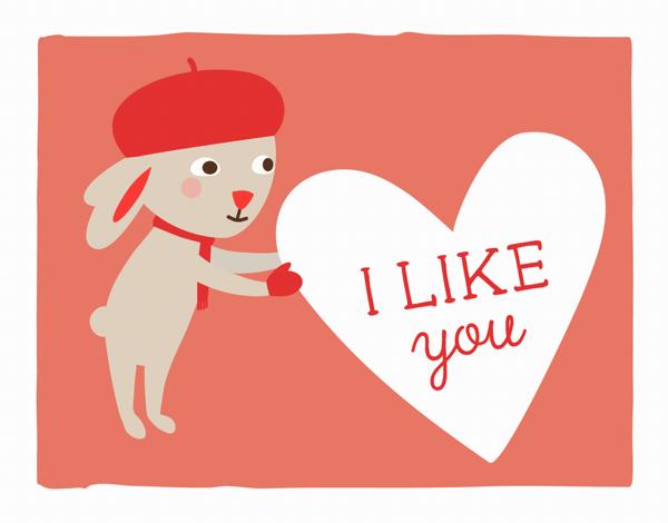 Cute Bunny Graphic Love Card