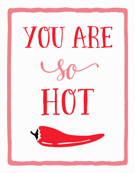 Hot Pepper Valentine Card