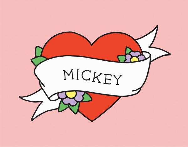Heart Tattoo Valentine Card