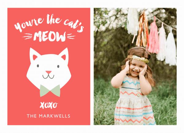 Cat's Meow Valentine Card