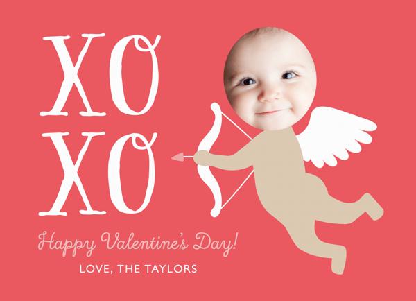 Custom Red Cupid Valentine Card
