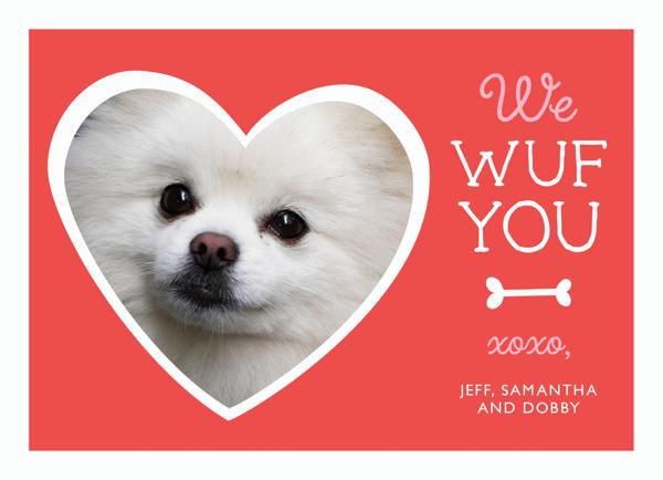 Cute Dog Custom Valentine Card