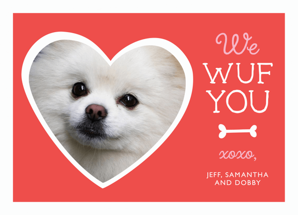 Cute Dog Custom Valentine Card