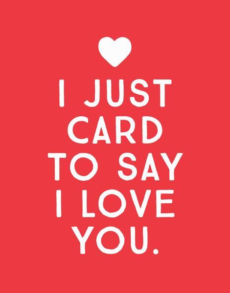 Pink Heart Love Card
