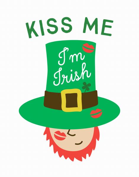 Kiss Me I'm Irish Card