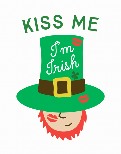 Kiss Me I'm Irish Card