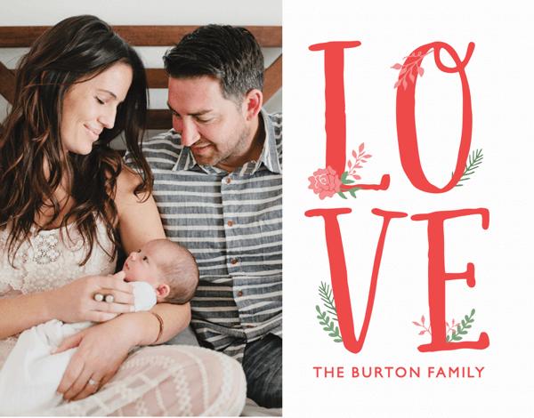 Sweet Graphic Valentine Card
