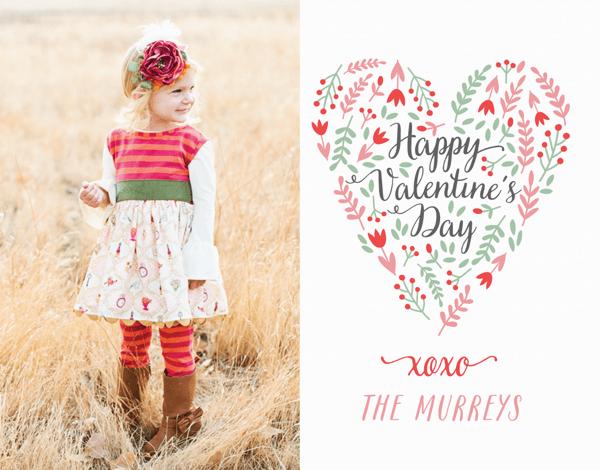 Poppy Heart Photo Valentine's Card