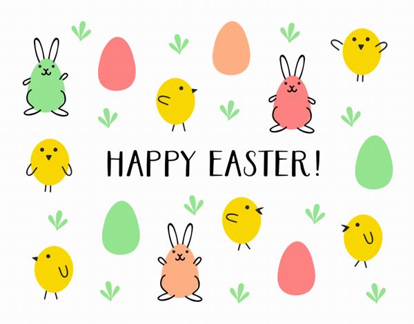 Egg Hunt Easter Card