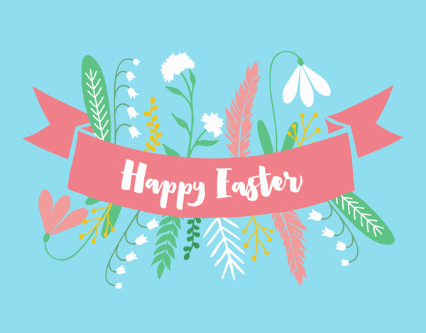 Floral Religious Easter Card