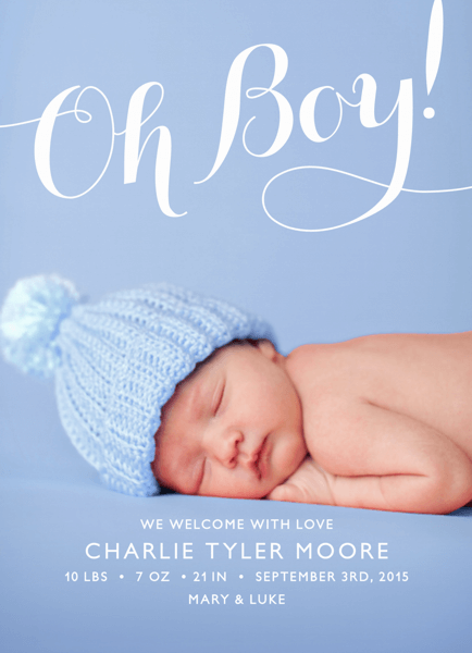 Flourish Boy Birth Announcement