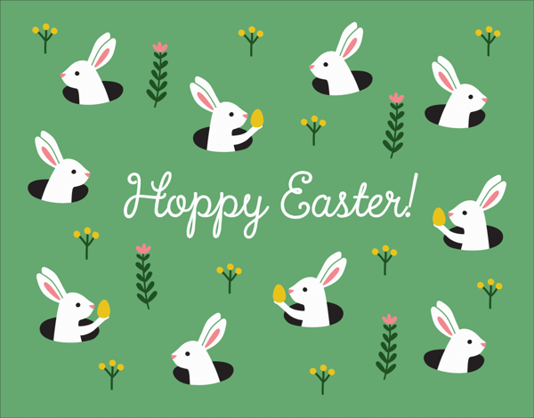 Bunny Chase Easter Card