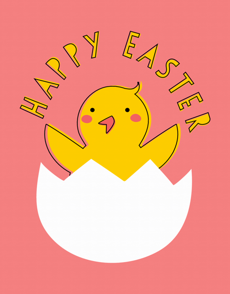 Animal Easter Card
