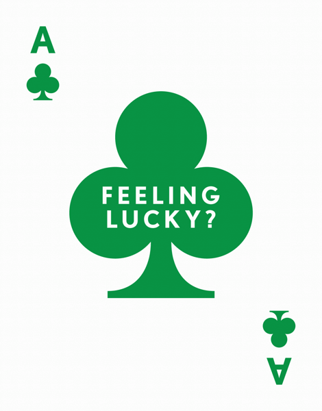 Green Ace St. Patty's Day Card