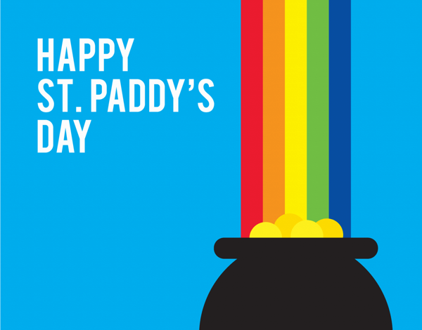Pot of Gold Paddy's Day Card