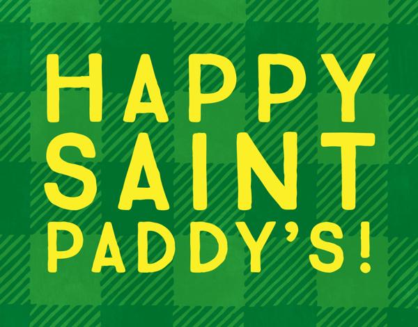 Bright St. Paddy's Plaid Card
