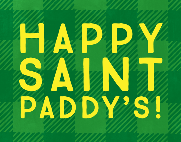 Bright St. Paddy's Plaid Card