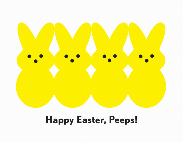 Yellow Peeps Easter Card