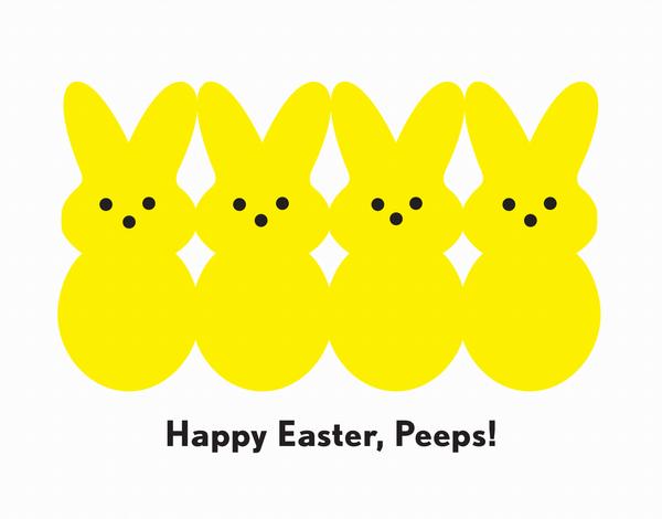 Yellow Peeps Easter Card