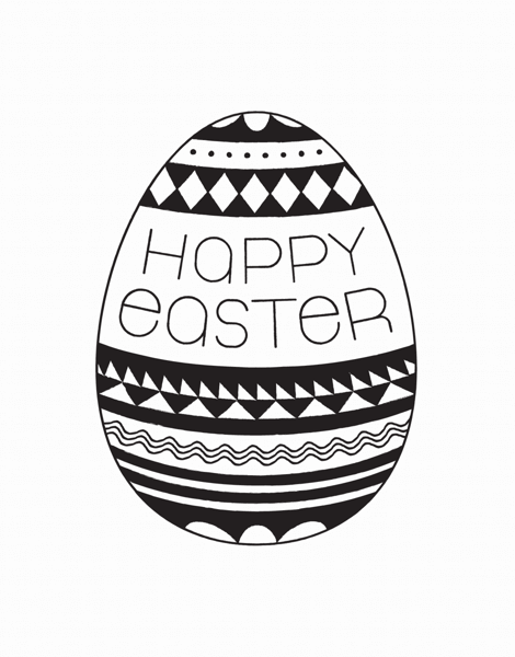Geometric Patterned Easter Card