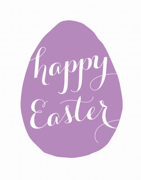 Purple Easter Egg Card