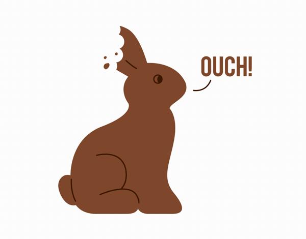 Chocolate Bunny Easter Card