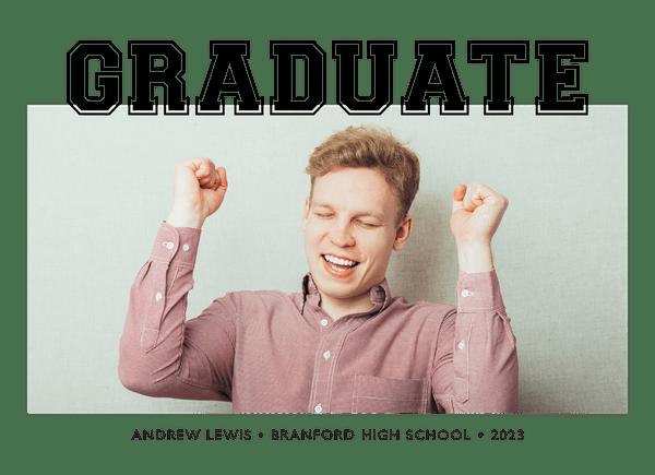 Graphic Photo Graduation Announcement