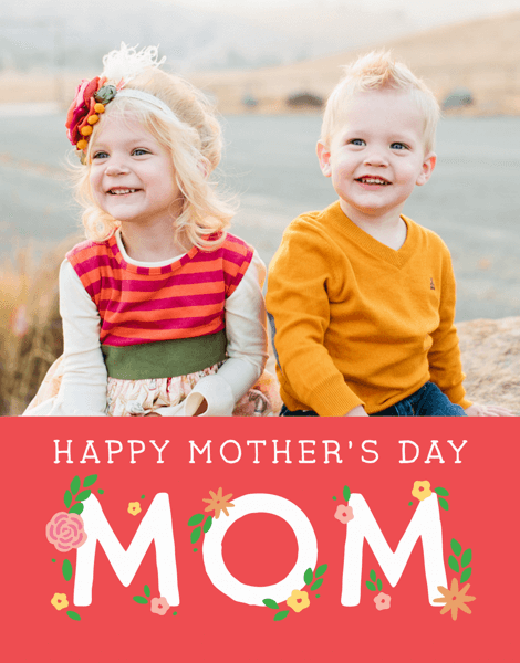 Custom Floral Mother's Day Card