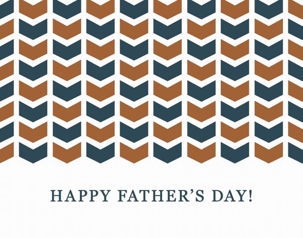 Arrow Pattern Father's Day Stationery