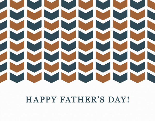 Arrow Pattern Father's Day Stationery