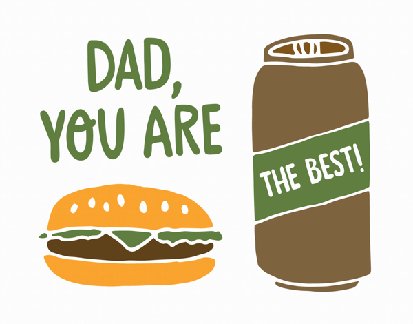 Beer and Burger Father's Day Card