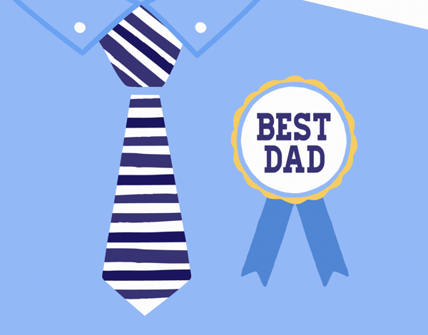 Best Dad Badge Father's Day Card