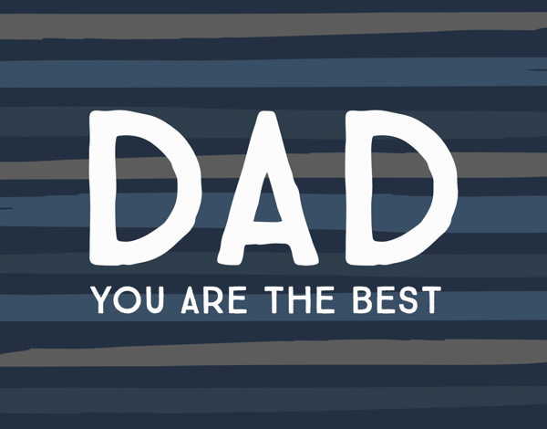 Best Dad Striped Father's Day Stationery