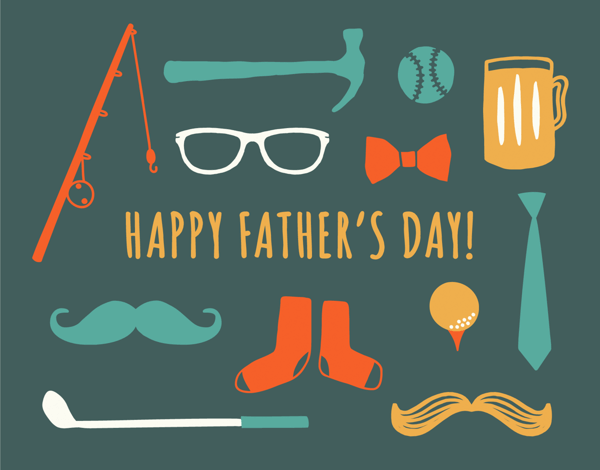 Graphic Trinkets Father's Day Card