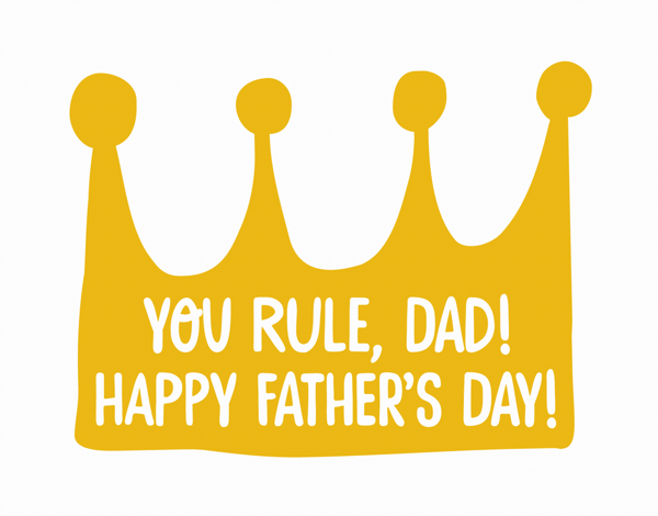 King Dad Father's Day Card