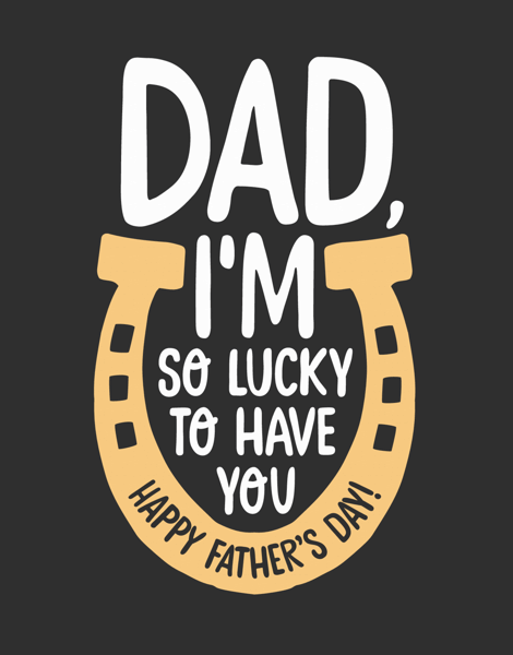 Lucky Horseshoe Father's Day Card