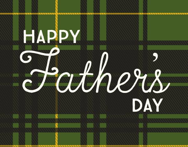 Green Tartan Father's Day Card