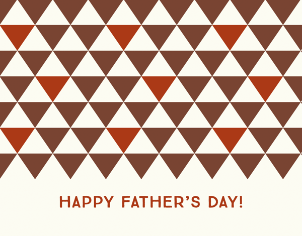 Triangle Father's Day Stationery